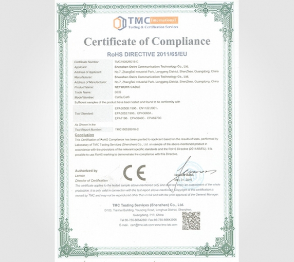 ROSH CE Environmental protection certification