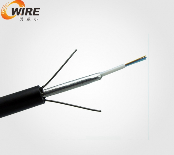 Central tube type light armoured optical cable