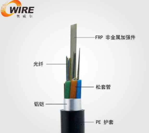 Reinforced core non armoured optical cable