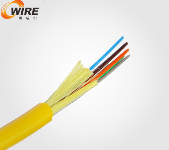 6 core single mode of bundled optical fiber cable